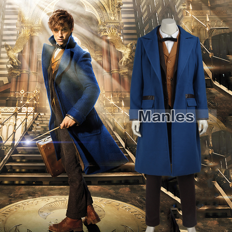 Fantastic Beasts And Where To Find Them Costume Newt Scamande Cosplay Costume Adult Men Halloween Costume Full Set Movie Cosplay