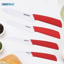 Couteau de Chef en céramique en zircone lame blanche, couteaux de cuisine 3 4 5 6 pouces pour parer les fruits ensemble de cuisine