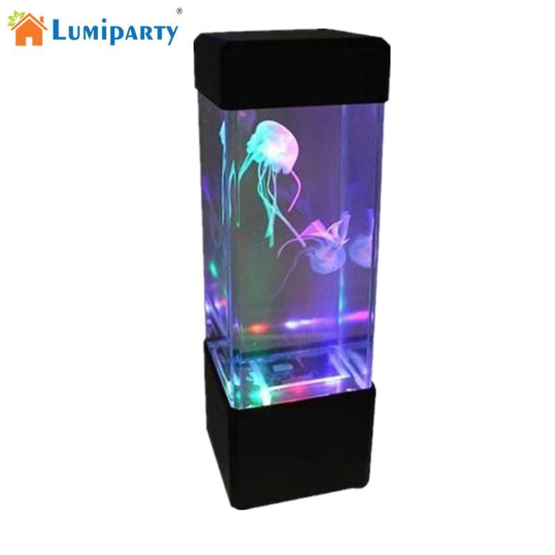 LumiParty 1 Stücke LED Desktop Licht Quallen Tropische Fische Aquarium LED Nachtlicht Entspannende Nachtstimmungslicht Licht Lampe