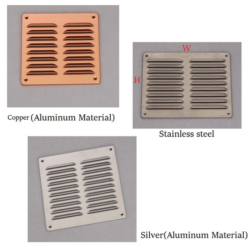 Aluminum Air Vent Ventilator Grille Undereave Under Eave Louvers Stainless Steel Copper Rain