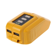 USB Mobile Battery Charger Adaptor For 10.8V-20V Slide DCB184 DCB090-Y1QA