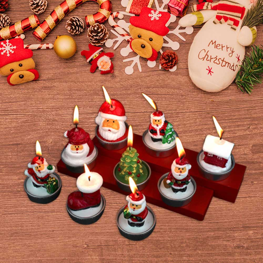Christmas Candles Santa Claus Snowman Birthday Christmas Party Decoration Candle