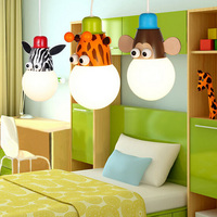Manufacturers wholesale cartoon cute monkey zebra children room lights bedroom warm children chandeliers children room lights