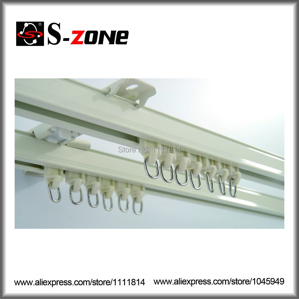 GD31 Aluminum Curtain Rail 1 0mm Thickness Curtain Track Single Or