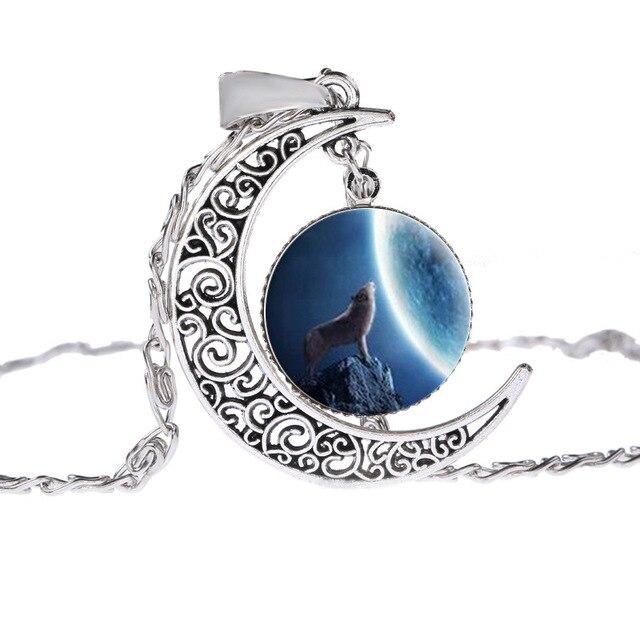 Collier Loup Lune Motif 7