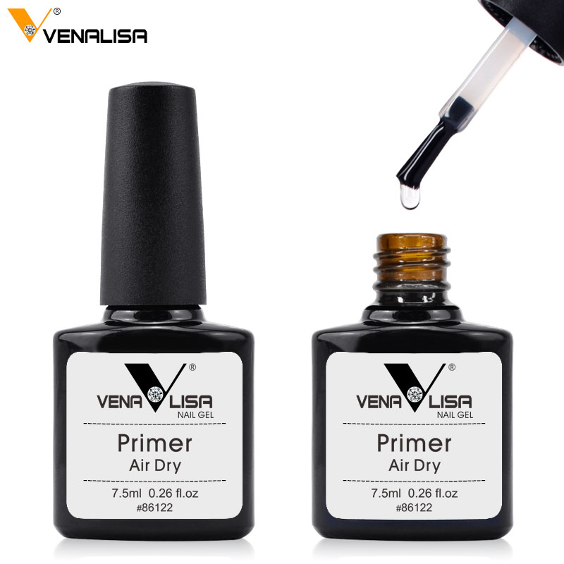 2019 New Venalisa berbasis air tanpa asam rendam gel primer, gel Anastomosis, gel cat kuku base coat, top coat gelpolishes