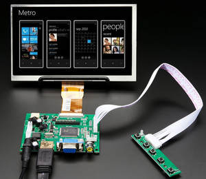 1024--600 Control-Board Lcd-Monitor 7''screen-Display Remote-Driver Raspberry Pi HDMI