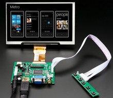 7-дюймовый экран 1024*600, ЖК-монитор с платой дистанционного управления 2AV HDMI VGA для Raspberry Pi Banana/Orange Pi