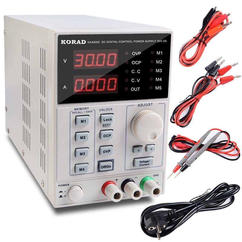 Adjustable Power Supply KA3005D Precision Adjustable 30V 5A DC Linear Digital Voltage Regulator Power Supply Free Shipping free shipping 10pcs lm7805 l7805 7805 voltage regulator ic 5v 1 5a to 220