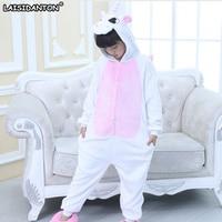 LAISIDANTON New Flannel Unicorn Pajamas Sets Nightie Adult Kids Licorn Pijama Sleepwear Unisex Onesie Cosplay Unicornio