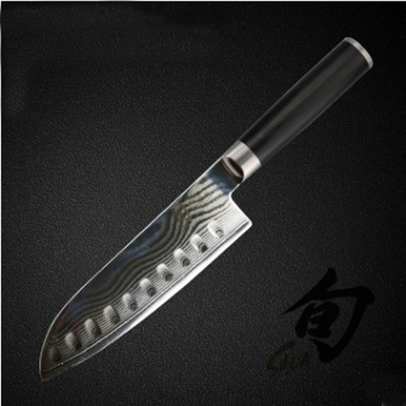 LD 7 Japanese chef font b knife b font 73 layers VG10 Damascus steel kitchen font
