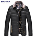 Port&Lotus Men Leather Jacket (PU) Winter Jacket Men Coats Mens Brand Clothing Motorcycle Jacket 062 JYL