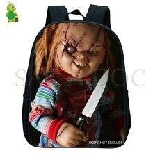 Chucky 악몽 배낭 작은 가방 소년 소녀 기본 유치원 배낭 어린이 학교 가방 유아 배낭
