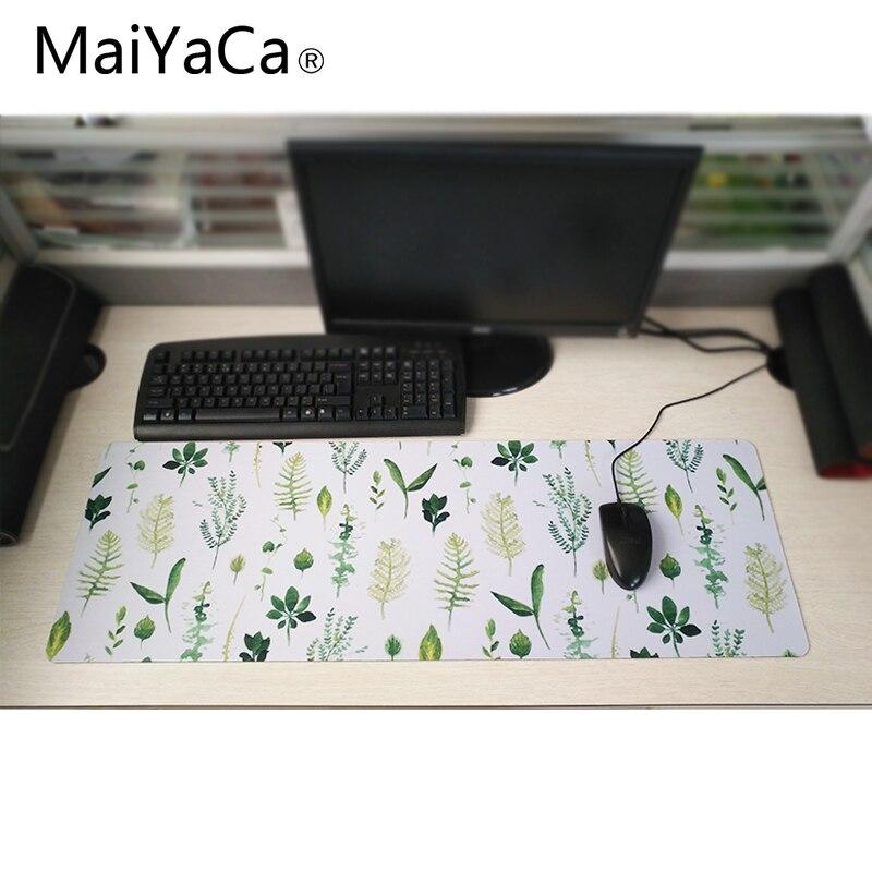 MaiYaCa Leaves 900x400mm Custom office mouse pad precision lock edge speed version laptop computer desk mat for CS GO DATA gamer