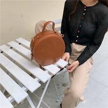NEW Round Crossbody Bags For Women 2019 New PU Leather Messenger Shoulder Bag Chain Handbags Ladies Travel Purses and Handbag
