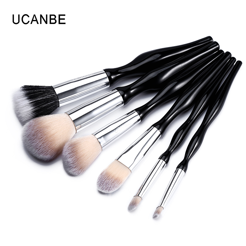 UCANBE Pro 6pcs/set Foundation Face Makeup Brushes Bronzer + Blush Powder + Eyeshadow + Eyebrow Make Up Brush Cosmetic Kit Tools кофейный стол sparkle
