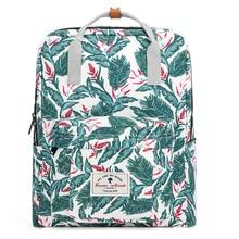 Teenage Girls Backpack Bags 2019 Large Capacity Travel Bagpack Fashion Leaf Printed Back Pack Bags Preppy Style Student Bags eureka style c bags 3 pack generic