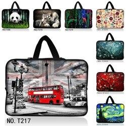 Autobus w londynie 10 12 13 15 17 cal rękaw etui torebka na laptopa tabletki notebook miękkie pokrywa dla 13.3