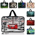 """London Bus 10 12 13 15 17 inch sleeve case carry handbag for laptop tablets notebook soft cover 13.3"""" 15.6""""computer bag netbook"""