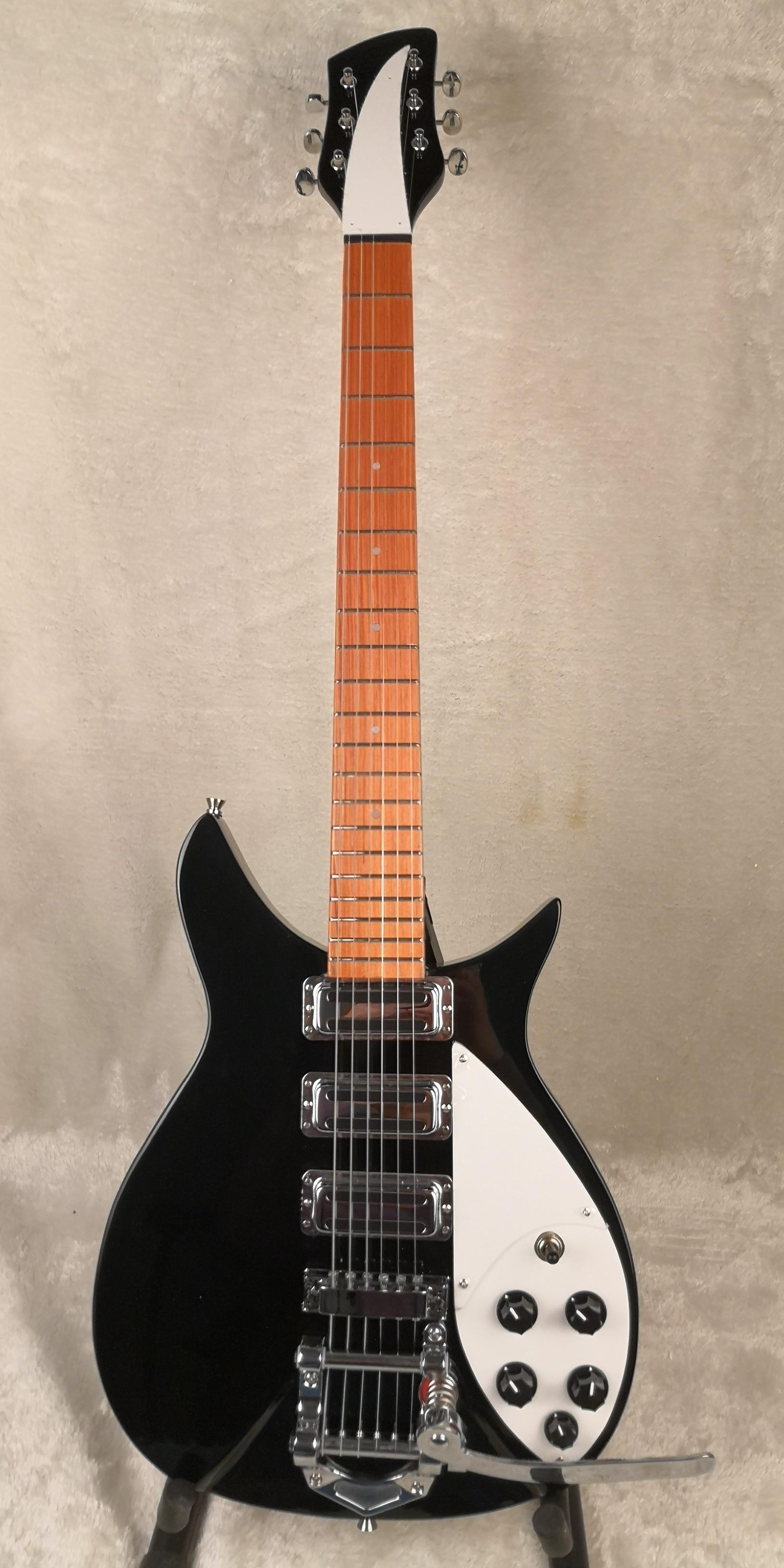 r electric guitar black 66string guitar supporters 3 picked up 325 models normal neck free. Black Bedroom Furniture Sets. Home Design Ideas