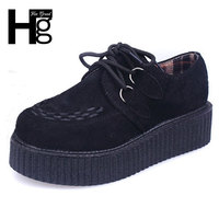 Wine Red Vintage Creepers 2015 Fashion String Rope Women High Platform Shoes Creeper Platforms Female Wholesale