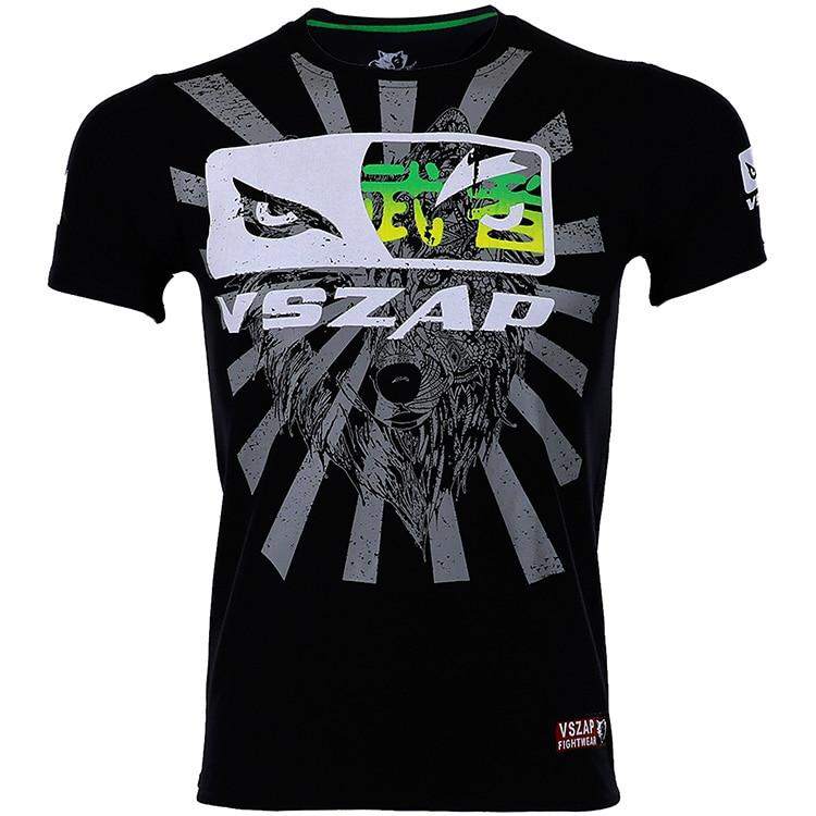 Careful Vszap Fight Short Sleeve T-shirt Gym Fight Mma Shirt Combat Comprehensive Training Muay Thai Boxing Jerseys Shorts T Shirt Men Boxing