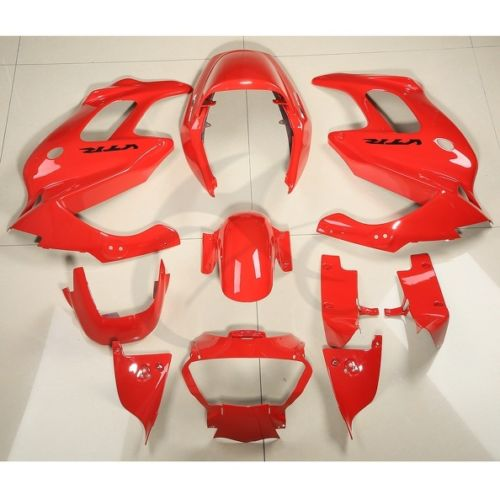Мотоцикл ABS пластик Красный обтекатель кузова комплект подходит для Honda VTR1000F 1997-2005