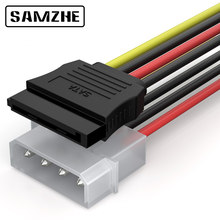 SAMZHE SATA Power Cable 4 PIN IDE SATA Splitter 0.2m Cable for Hard Disk, SSD,Computer Connection(China)