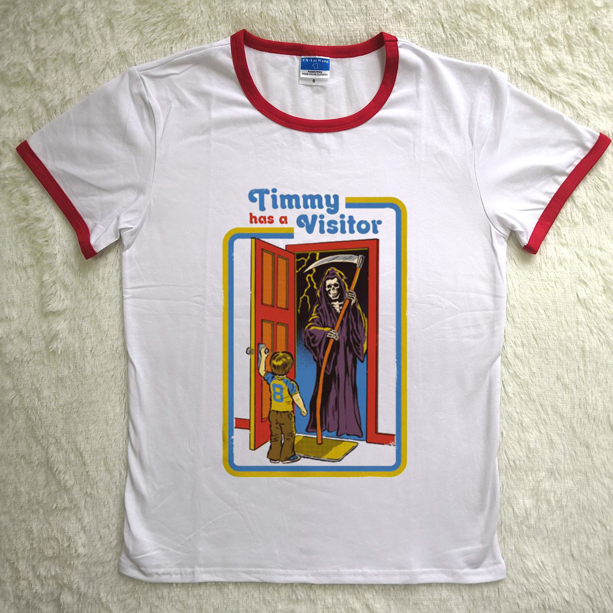 Hillbilly Drôle Femmes T-shirts À Manches Courtes Timmy A un Visiteur imprimé Puissance Maléfique Vintage Top Harajuku D'été Tops t-shirt femmes