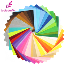 Lucia crafts 40color 15x15cm/30x30cm Non-woven Felt Fabric Polyester Cloth Fabrics For Sewing Dolls DIY Material 40pcs D14010406