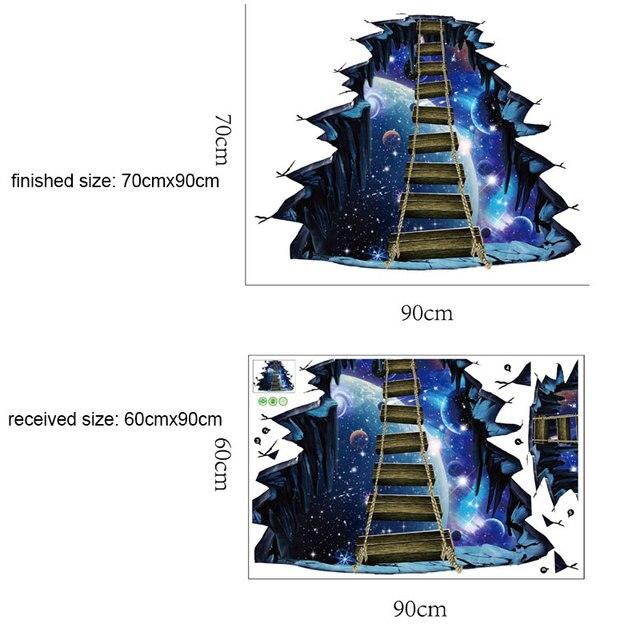 3D Galaxy Star Bridge Home Decoration Wall Stickers 5
