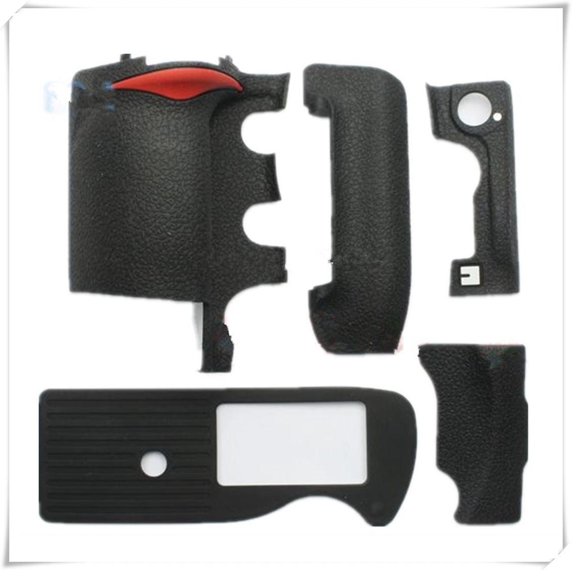 A Set of 5 Pieces New Grip +left side +thumb +bottom +card cover Rubber For Nikon D3 D3s D3x SLR Camera+ 3M Tape a set of 4 pieces new original grip left side thumb bottom rubber repair parts for nikon d3 d3s d3x slr camera 3m tape