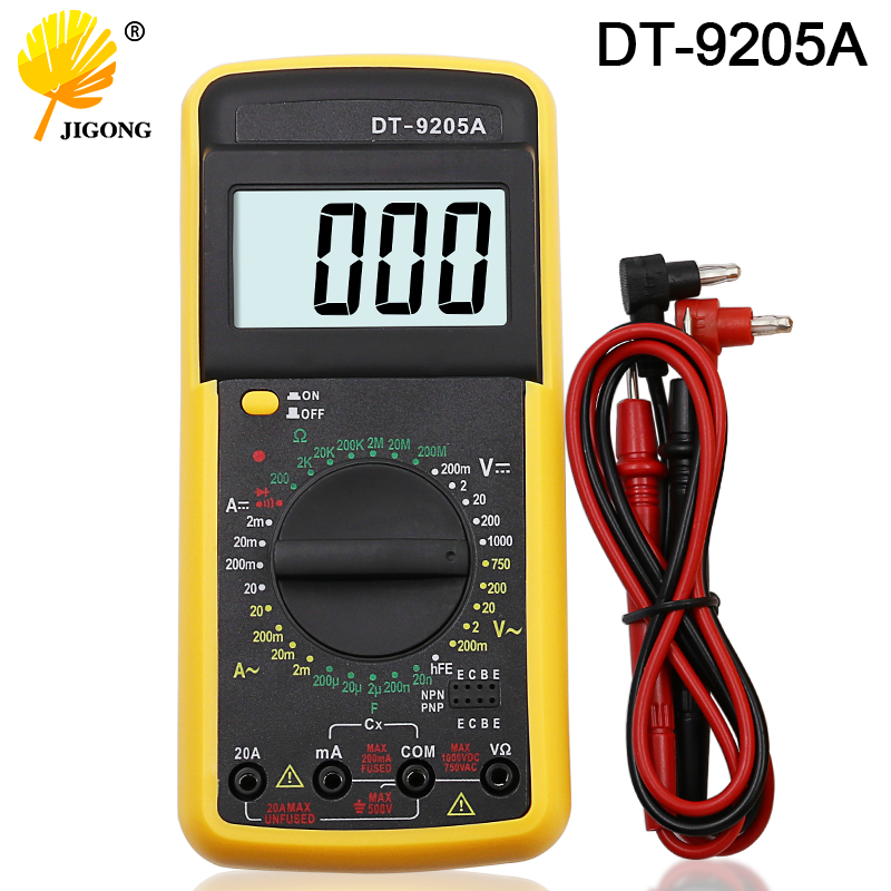DT9205A AC DC Display LCD Professionale Handheld Elettrico Tester del Tester Multimetro Digitale Multimetro Amperometro Multitester