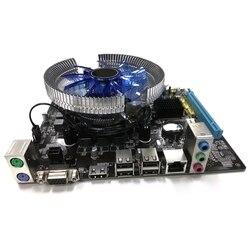 HOT-Hm55 Computer Motherboard Set I3 I5 Lga 1156 4G Memory Fan Atx Desktop Computer Motherboard Assembly Set Game Set