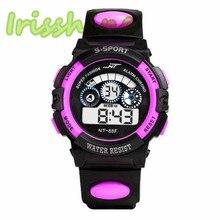 Irisshine i0303 детские часы водонепроницаемые мужские часы для мальчиков цифровой светодиодный Кварцевый Будильник Дата спортивные наручные часы для студентов