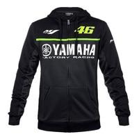 2017 Black MotoGP 46 Valentino Rossi VR46 Jacket For Yamaha M1 Racing Men S Hoodie Adult