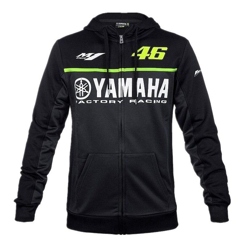 2018 Nero MotoGP 46 Valentino Rossi VR46 giacca Per Yamaha M1 Da Corsa degli uomini Con Cappuccio Adulto Con Cappuccio Felpa Sportiva Giacche S-XXL