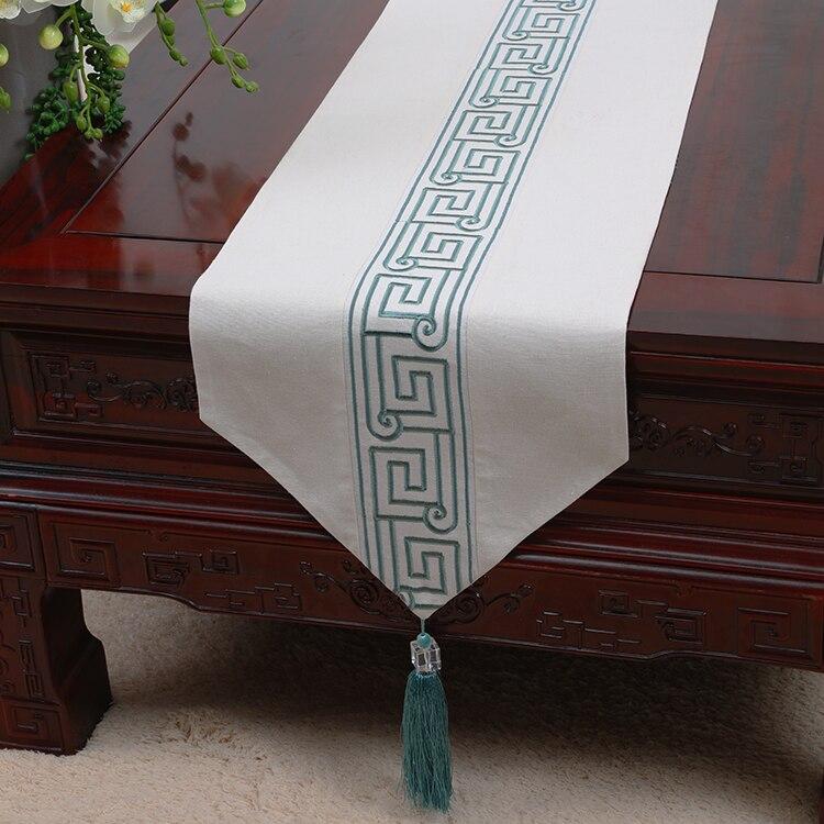 Vintage Patchwork tissu de soie chemin de Table dentelle style chinois Table basse tissu rectangulaire napperon à manger serviettes de Table
