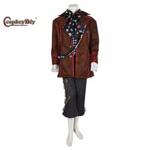 Cosplaydiy Deluxe Alice In Wonderland Johnny Depp Mad Hatter Cosplay Costume Outfit Suit Custom Made