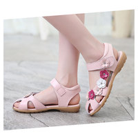 New Summer Genuine Leather Sandals For Girls Diamond Flower Decoration Princess Baby Shoes Children Leather Shoes Sandalias Nina