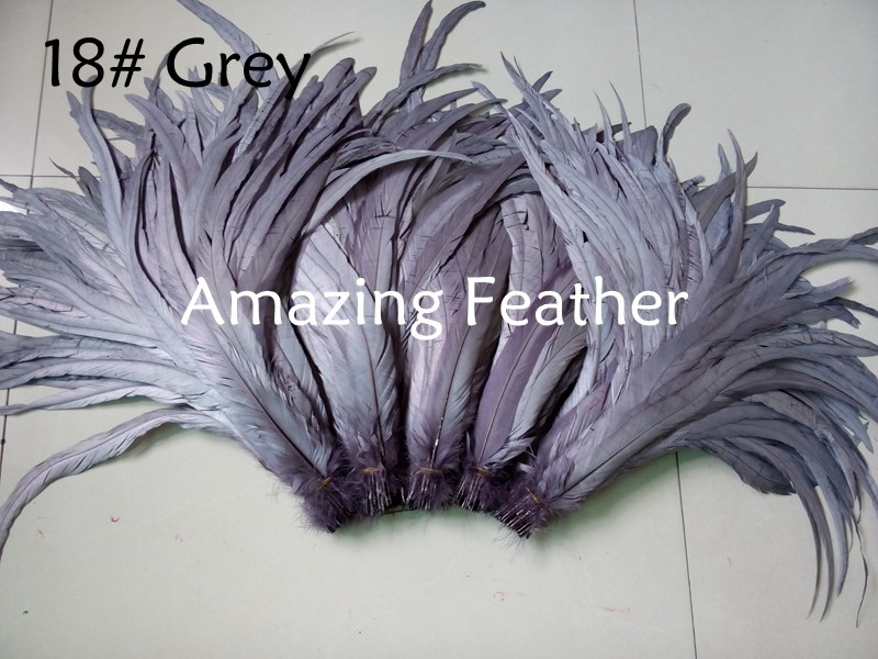 200pcs/lot 12-14inch Rooster Feathers Grey Feathers For Crafts Decoration Christmas Home Sale New Year Wedding Cosplay