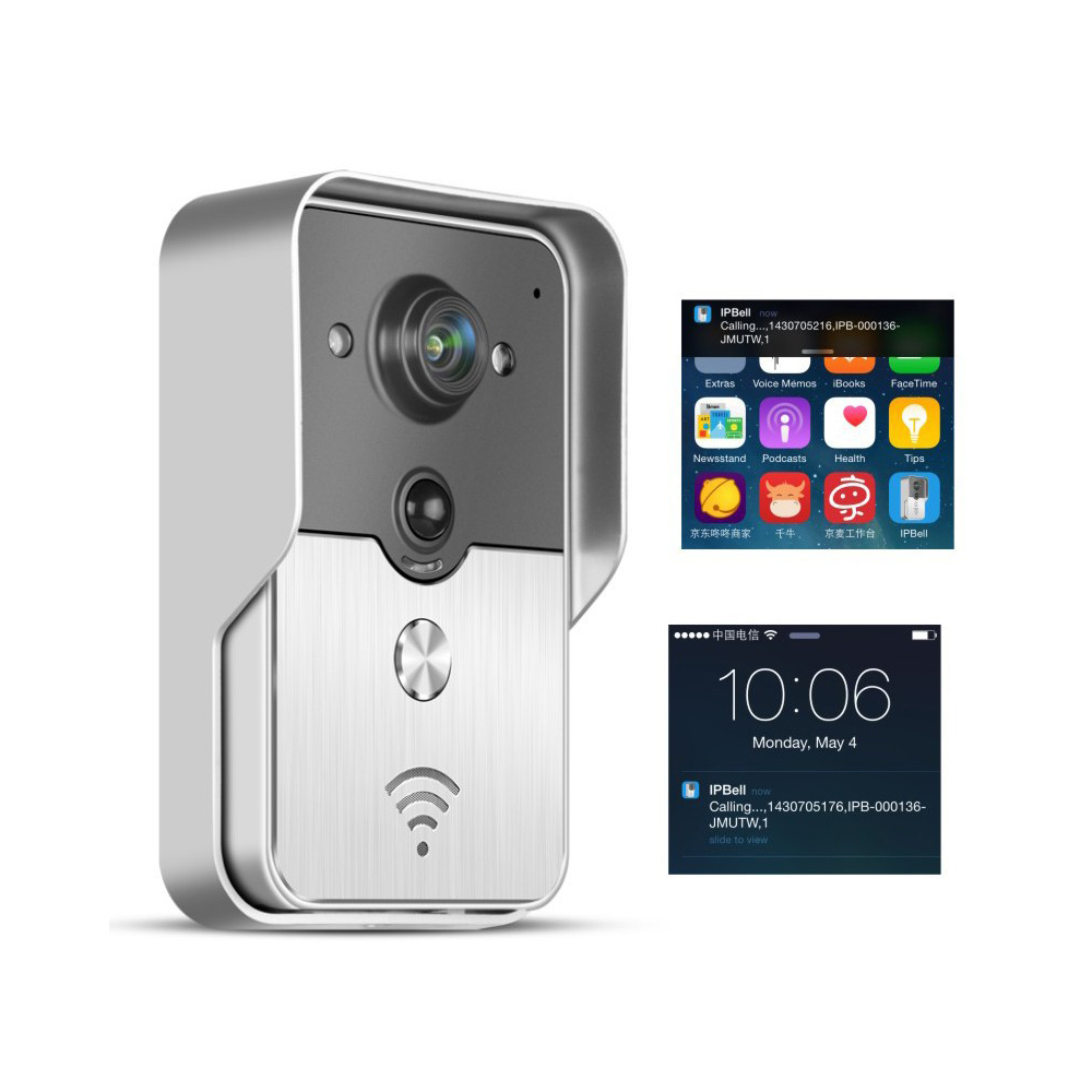 1 PCS Wireless Video Door Phone WIFI or Lan Cable Mini Camera Recorder Function App Control Long Distance Access control unlock in Doorbell from Security Protection