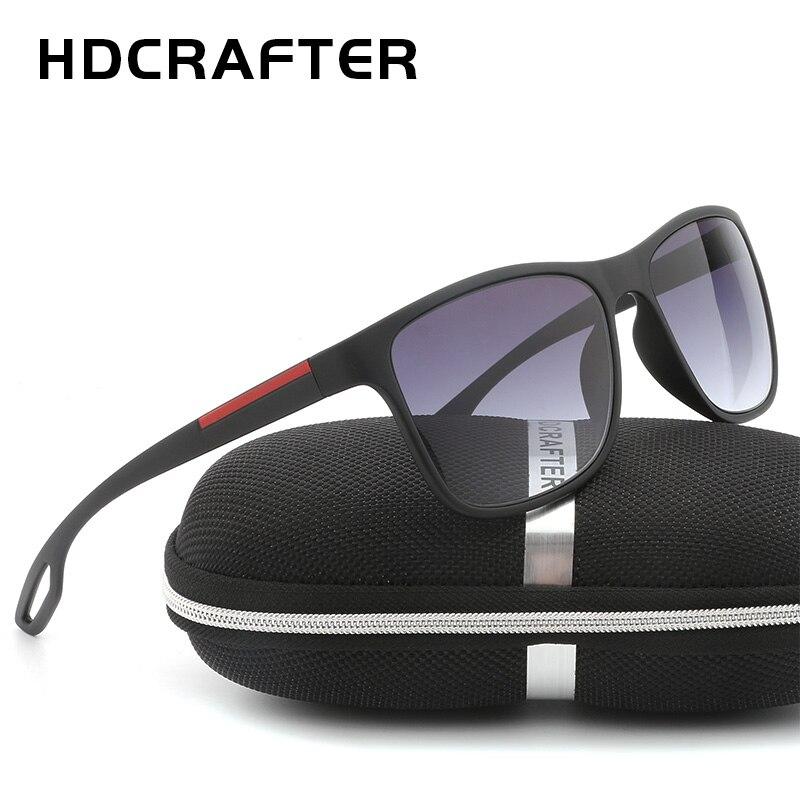 HDCRAFTER 2018 Haute Qualité Hommes Carré lunettes de Soleil Polarisées pour Gradient de conduite UV400 Len lunettes de Soleil Mâle Lentes Gafas