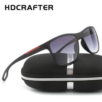 62817c5726 HDCRAFTER 2018 de alta calidad de los hombres Gafas de sol cuadradas para  la conducción de UV400 Len Gafas de sol hombre Lentes Gafas