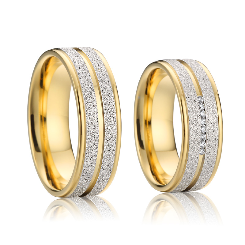 Alliances de luxe mariage personnalisé sa proposition couple anneaux de mariage ensemble hommes et femmes 2019 bijoux de créateur