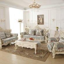 Европейский стиль диванная подушка Роскошные четыре сезона универсальный кожаный чехол на диван Бесплатная доставка