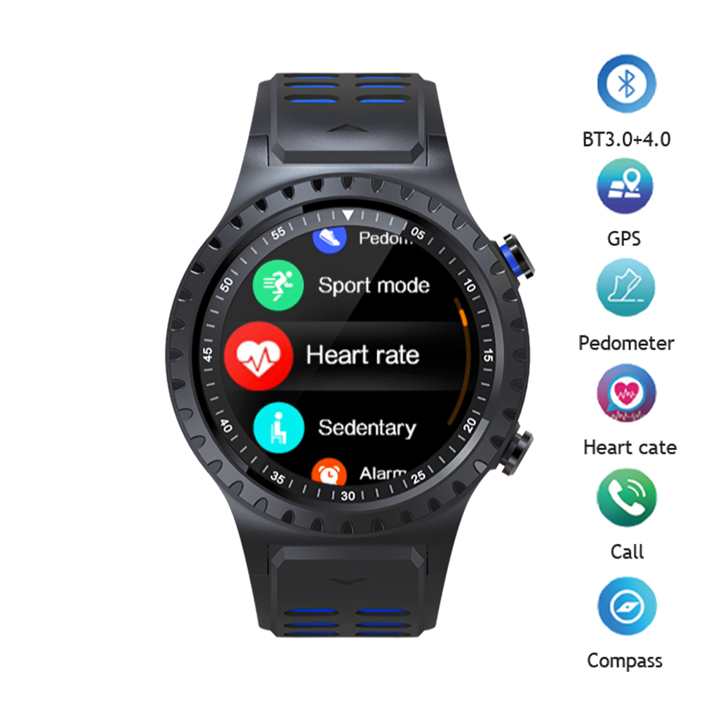 Montre Smart Watch GPS Bluetooth Smartwatch Fitness Tracker Coeur Taux Tracker Compass Activité Tracker Hommes Sport Montre pour IOS Android
