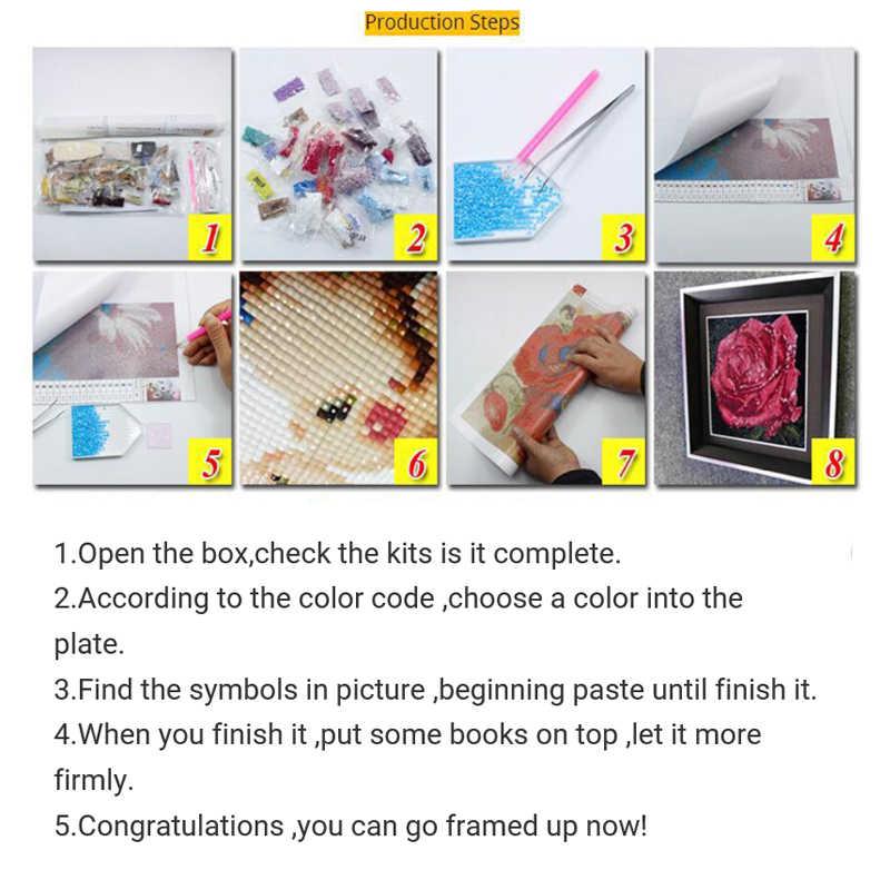 Алмазная живопись 5D «сделай сам» Алмазная вышивка мозаика абстрактный холст масло ремесло украшения подарки мультфильм длинношерстные девушка