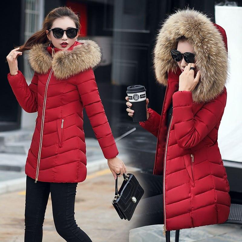 Winter jacket women fashion 2018   parkas   mujer new long coat female jacket thick hat collar big fur collar Women's winter coats