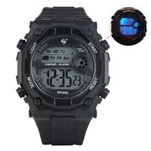 Men's Classic LED Luminous Display Mirror Quartz Electronic Watch Fashion Sport Outdoors Multifunction Waterproof Digital Watch цены